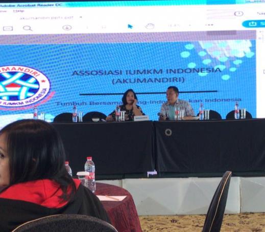 Ketua Umum Asosiasi IUMKM Ibu Hermawati Setyorinny Hadir Sebagai Narasumber Kegiatan Diklat Tenaga Teknis Manajemen Promosi dan Pemasaran Industri Olahraga